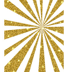 Background with golden rays vector