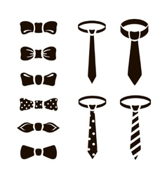 bow ties icon set on white background vector image