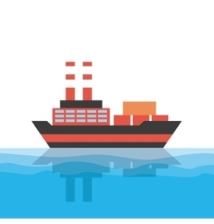 Cargo ship icon vector