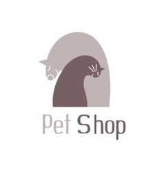 Cat and dog tender embracesign for pet shop logo vector