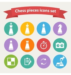Chess pieces white icons set vector image vector image