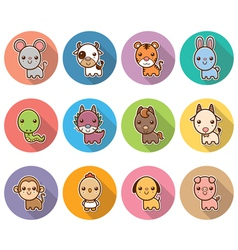 Chinese zodiac animal vector