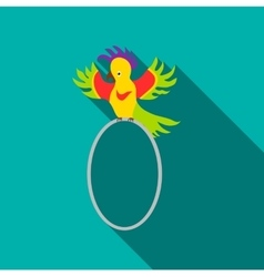 Circus parrot icon flat style vector