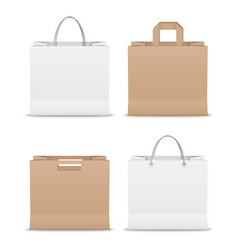 Collection paper shopping bags template vector