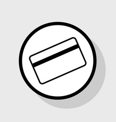Credit card symbol for download flat vector