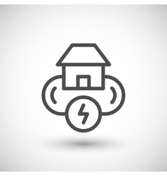 Electricity system line icon vector