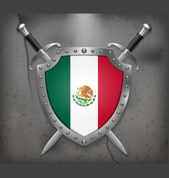 Flag of Mexico Medieval Background vector image vector image