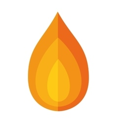 Flame icon Fire design graphic vector image