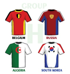 Football world cup jerseys vector