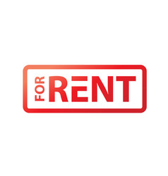 for rent sign vector image