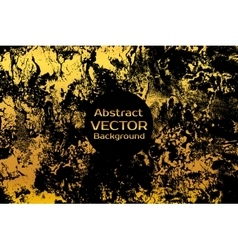 Golden on black abstract painted marble vector image vector image