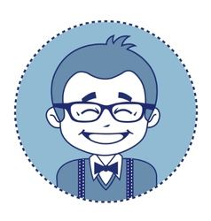 Happy showman or stage director in glasses vector image vector image
