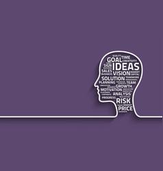 Inspiration concept head vector