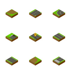 Isometric way set of flat underground without vector