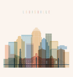 louisville state kentucky skyline vector image