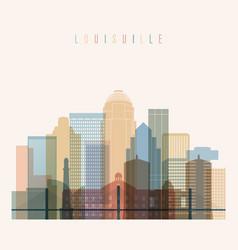 louisville state kentucky skyline vector image vector image