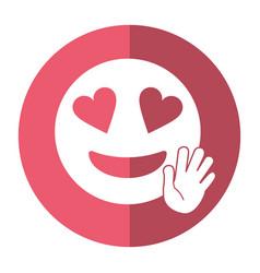Love hand emoticon style icon shadow vector