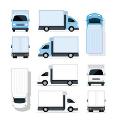 Mini truck blue and white vector