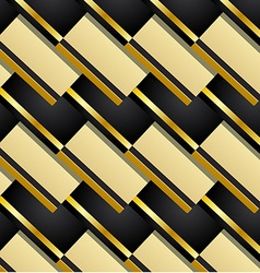 Pattern background in black and gold vector image vector image