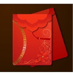 Red Envelopesw with free space vector image vector image