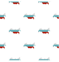 Russia map pattern flat vector