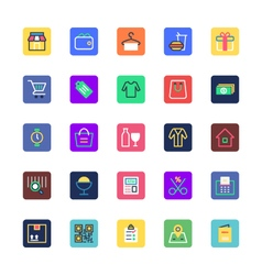 Shopping and eCommerce Colored Icons 1 vector image