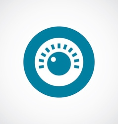 Sound control icon bold blue circle border vector