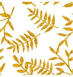 Tile tropical pattern with golden exotic leaves vector