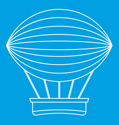 Vintage hot air balloon icon outline style vector