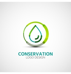 Water conservation company logo business concept vector