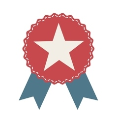 Medal ribbon star icon vector