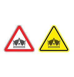 Warning sign king attention hazard yellow sign vector