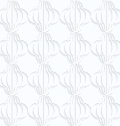Quilling white paper striped bulbs in row vector