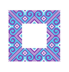 Pattern for embroidery cross vector