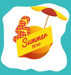 Summer time design vector