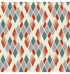 retro diamond repeat pattern 1 vector image