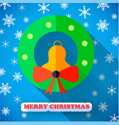 merry christmas colorful poster vector image