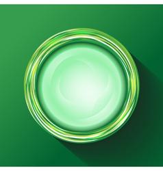 Green glasses button vector