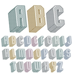 3d font with lines textures simple shaped vector image vector image