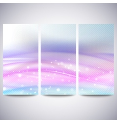 Abstract blue banners set wave design vector image
