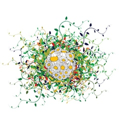 Spring floral sphere vector