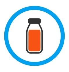 Full bottle rounded icon vector