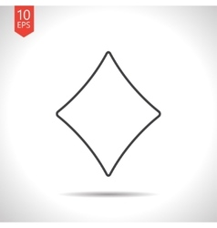 Game rhombus icon vector