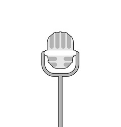 Retro microphone on white background accessory for vector