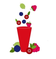 Berries cocktail vector