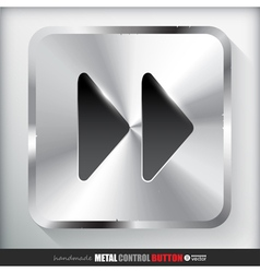 Metal fast forward button vector