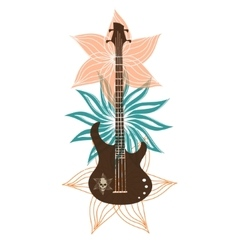 Abstract with bass on a light background vector