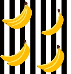 Banana bright geometric pattern vector
