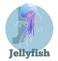 ABC Cartoon Jellyfish2 vector image