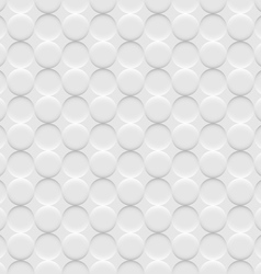 White background seamless pattern with circles vector image